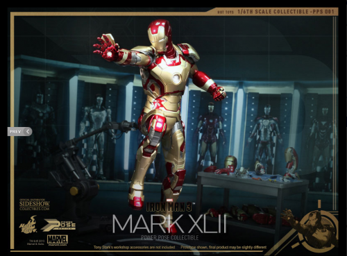Iron Man Mark XLII Sixth Scale Figure - Hot Toys - SideshowCollectibles.com